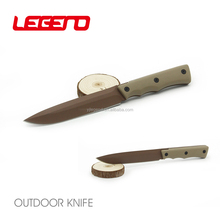 HK307 OEM/ODM handmade titanium fixed blade military gun knife army tactical survival knife with G10 handle