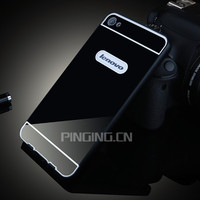 Luxury metal aluminum bumper case hard pc phone cover for lenovo s60