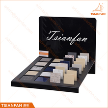 Promotional Tabletop Tiles Quartz Samples Acrylic Display Rack For Store