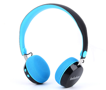 Fashion design kid blue-tooth wireless microphone headset ove-ear blue-tooth wireless stereo metal headphone