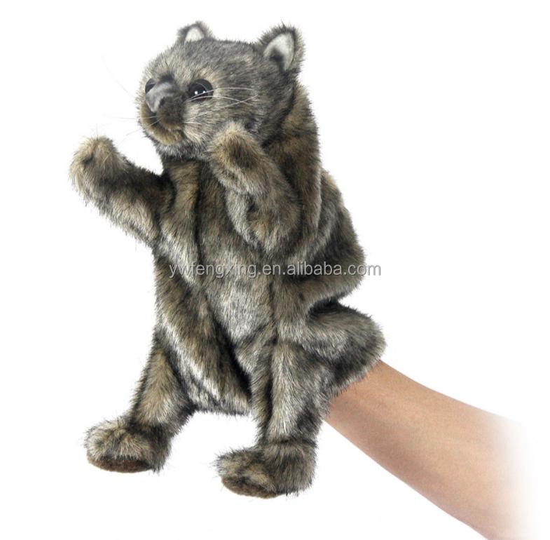 Pack of 6 Puppets AUSTRALIAN ANIMAL GIFT WOMBAT Soft Material FINGER PUPPET