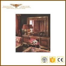 Full solid wood quality hand carved bedroom furniture