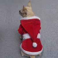 FREEDOGS Red Christmas Dog Clothes Hoodies winter Pet Costume cover Wholesale [FD072]