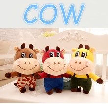 best selling custom design funny red free stuffed cow toy pattern