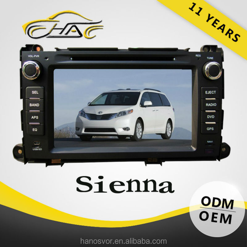 Car dvd for toyota sienna car gps navigation system with reversing camera