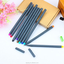 Fineliner Color Pens + Stainless Steel Drawing Stencils Sets,0.38mmPorous Fine Line Point Sketch Markers