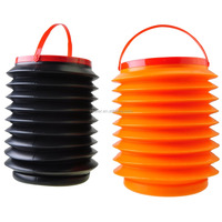 Foldable Plastic Bucket water Container Water Pail for Car wash outdoor camping