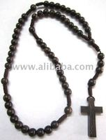 Tiger Ebony Wood Rosary