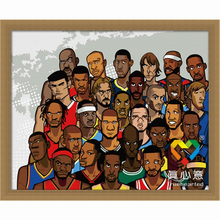 basketball family oil painting by numbers cartoon character painting