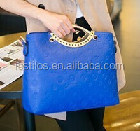 New embossed laptop shoulder bag Handbag white bag Korean wave fashion Joker stereotypes women bags