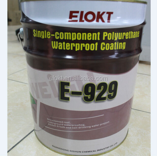Single Component High Elastic Polyurethane Waterproof Paint for Roof/Basement