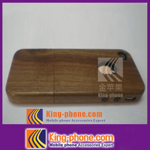OEM design real wooden cell phone case for iphone 4,real wood phone cover