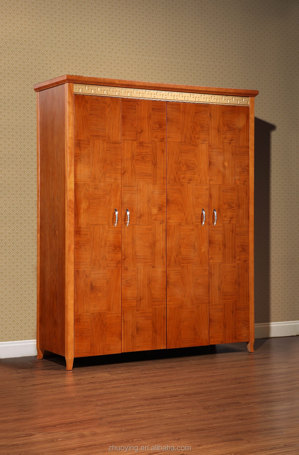 Bedroom wardrobe design with storage cabinet clothes for Cloth cabinet design