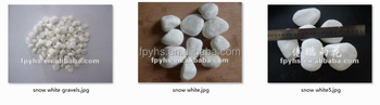 Pure Snow White tumbled small piece stones