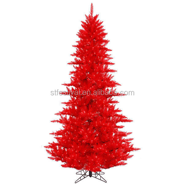 Artificial pvc outdoor red christmas tree decoration buy for Where can i buy a red christmas tree