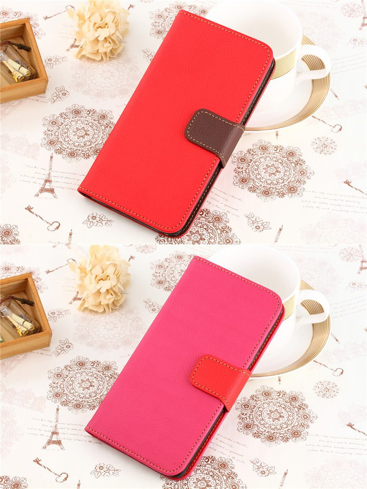 2017 Luxury Back Cover TPU PU Leather Material Flip Wallet Case For Samsung Galaxy S5