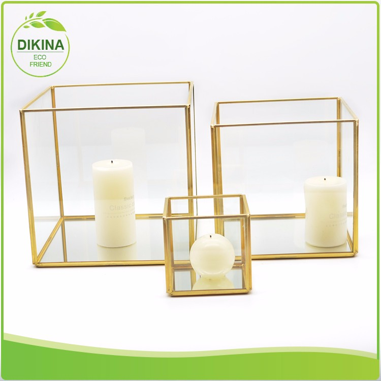 <<< Start switching to glass, stop harming to our health and planet.>>> geometric mini glass orchid pot