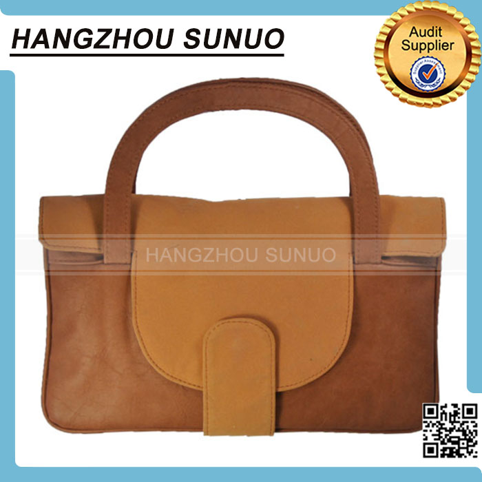 Brown leather tote laptop bag