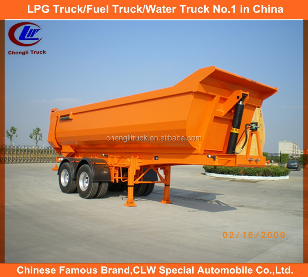 2 axle tipper trailer 25M3 28M3 dump semi trailer for mining transportation