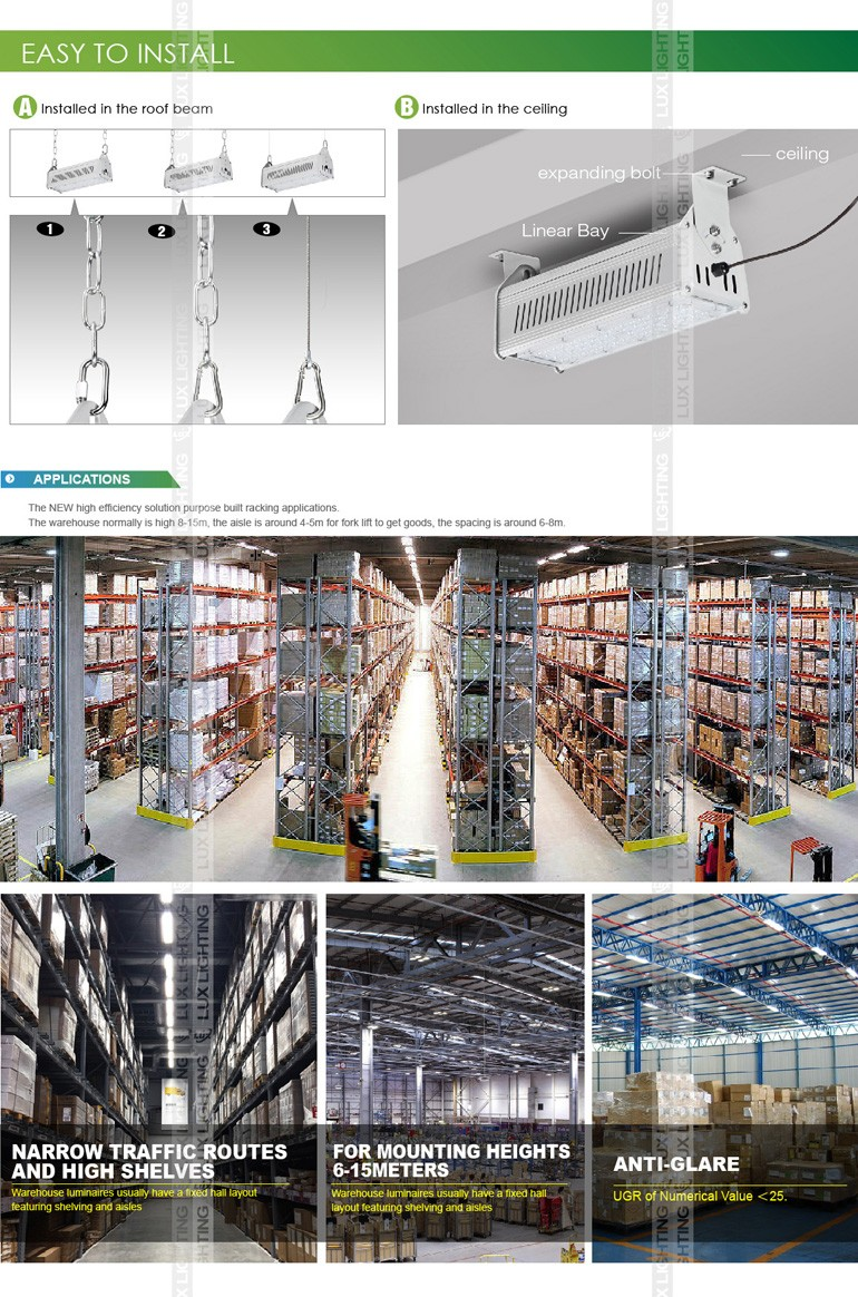 2016 new type 140lm IP67 480w 240w led high bay factory lighting manufacturers