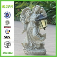 Elegant Religious Garden Resin Angel Solar Light