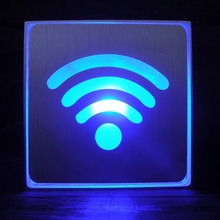 wholesale alibaba WIFI LED Sign Indicator Light, Size: 11x11x3.5cm(Blue) indicator light