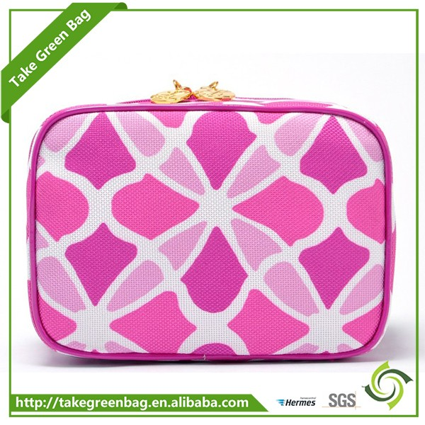 Customized Logo fashionable fabric makeup cosmetic bags