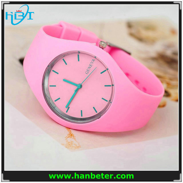 2015 wholesale new style fashion colorful children geneva silicone wrist very cheap chinese watches