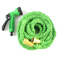 Strong and unique expandable garden water hose/ brass water spray nozzle for factory direct sale