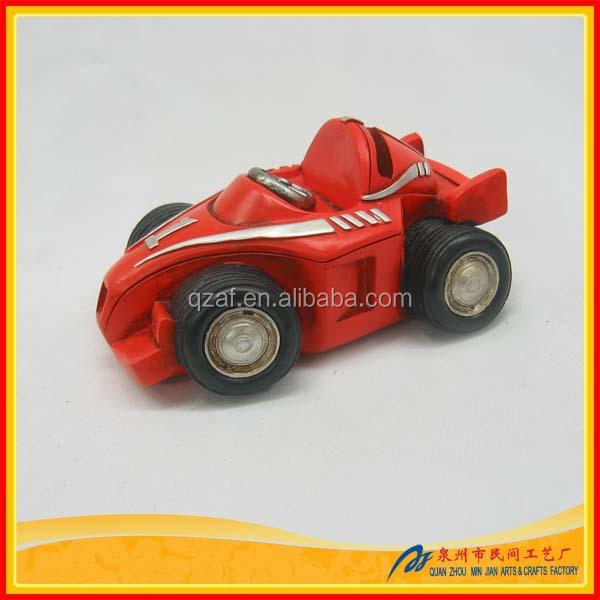 Mini F1 Racing Car Resin Sculpture Custom Money Box,Money Box Design,Money Bank