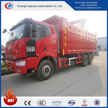 Diesel 6x4 heavy duty maunal transmission Euro 3 FAW dump truck for sale