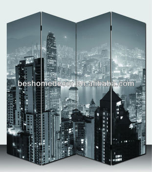 Double Sided Canvas Screen Room Divider Double New York
