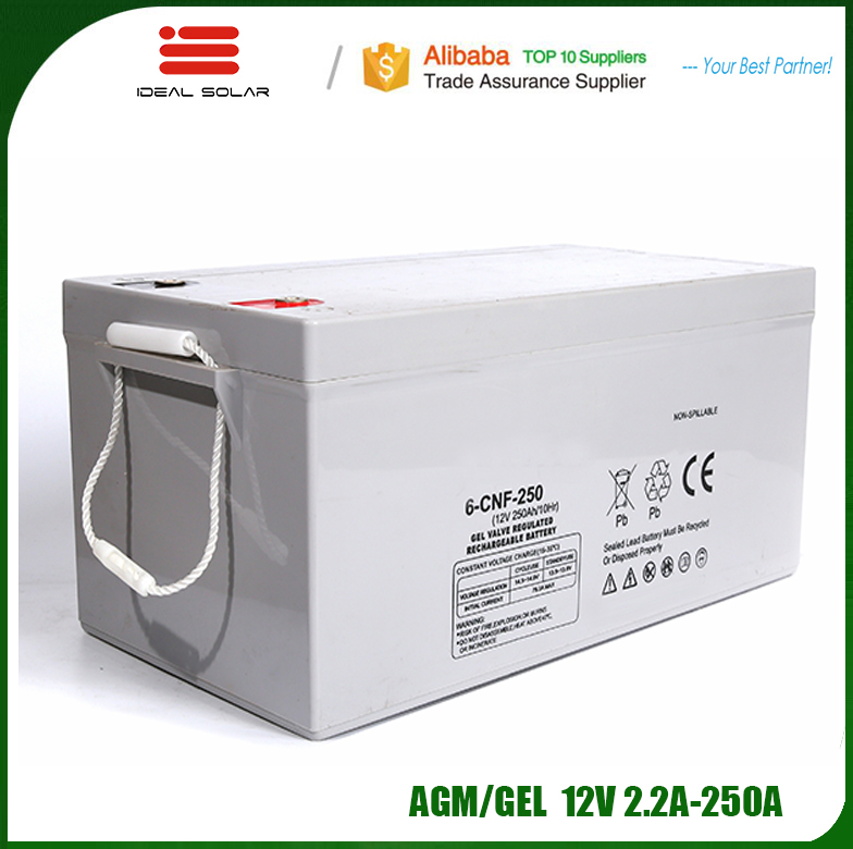 Ideal New Energy 2v 6v 12v 24v 7ah 100ah 120ah 150ah 200ah 220ah 250ah agm gel agm storage battery for home use ups