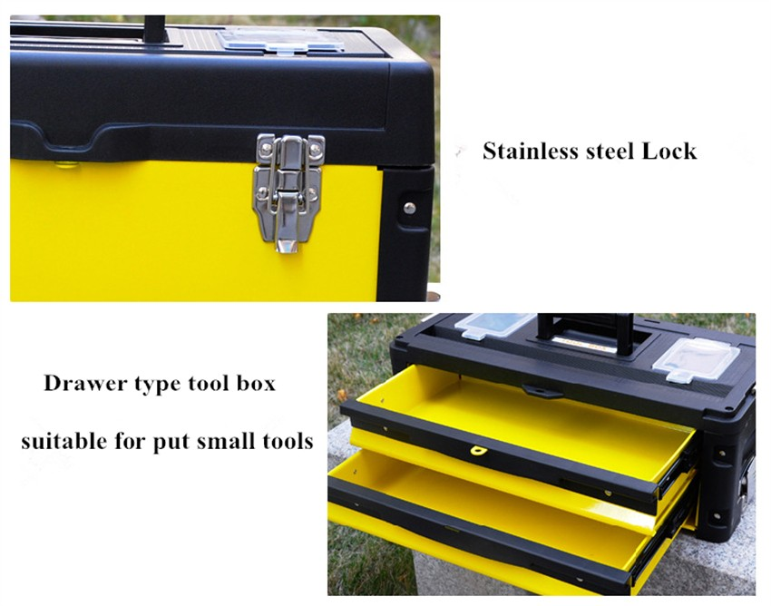 US general tool box plastic trolley