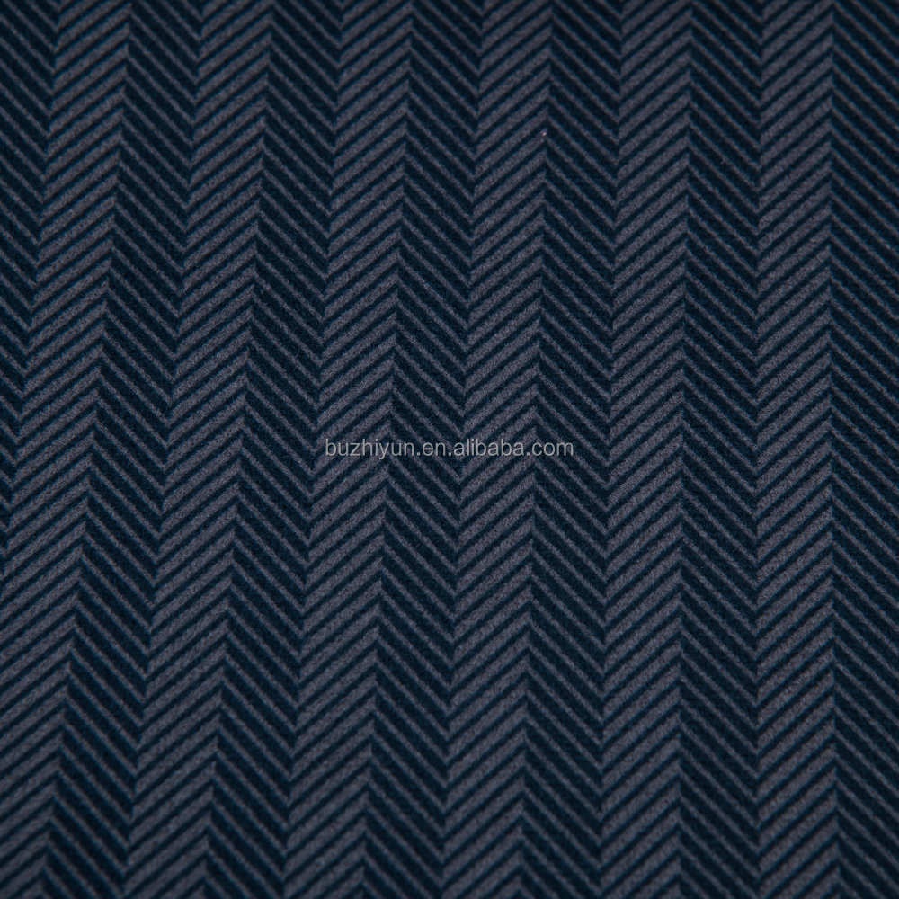 china supplier polyester pinstripe chevren suit cloth material fabric