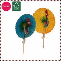 birthday party set fan toothpick for cake decoration