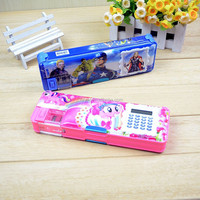 Factory produce Plastic Pencil Box with Calculator for Kids
