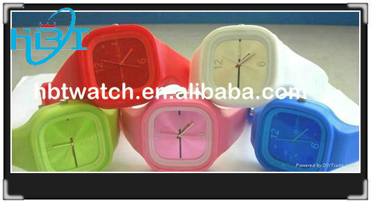 2014 new fashion hot selling rubber silicone sanda watch
