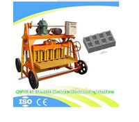 High quality QMY4-45 semi automatic big size egg laier concrete hollow block machine have distributors in africa
