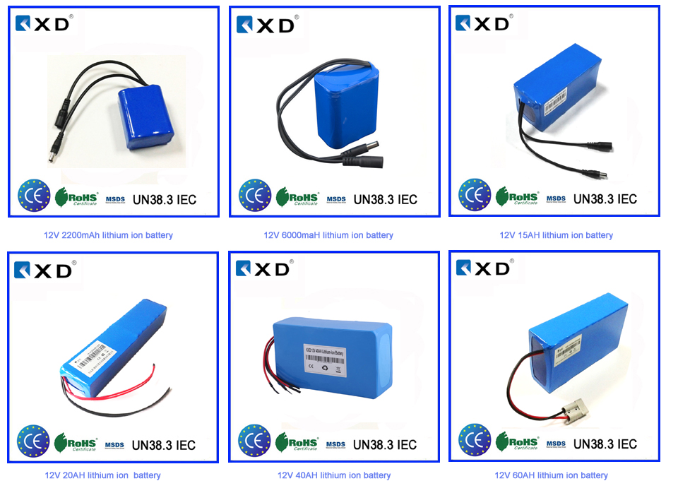 Li polymer Small cheap price 2000mah 12v rechargeable battery pack