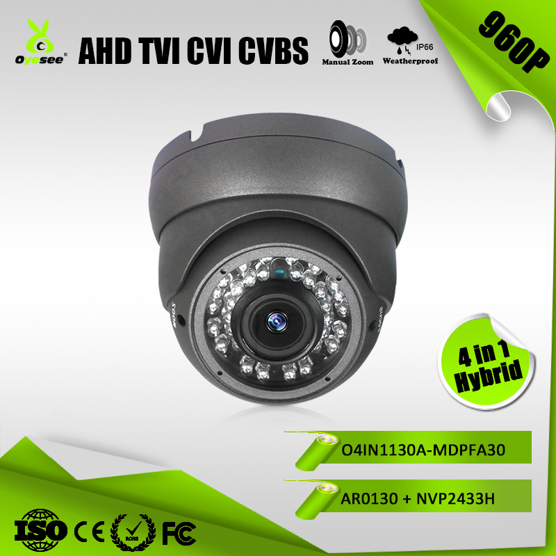 960P IR Range 30m varifocal AHD TVI CVI CVBS Hybrid 4 in 1 lowes home security cameras from top security companies