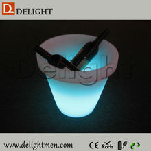 Promotion color changing illuminated floating remote control flower pot for balcony in living room