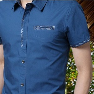 2014 korean style slim fit shirts stylish men casual shirt