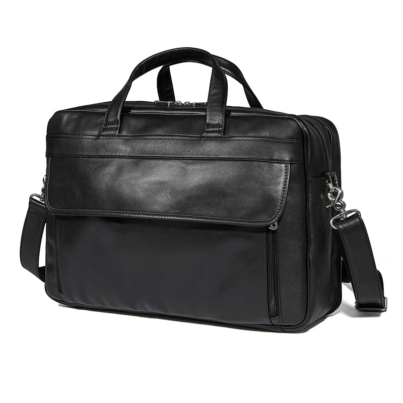 <strong>J</strong>.M.D Real Leather Handbags Mens Black <strong>17</strong> inches Laptop Bag Briefcase Bag Online Shopping Wholesale 7383A