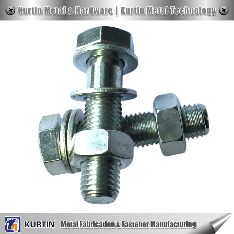 zinc coating hex pan head bolts for mechanical equipment