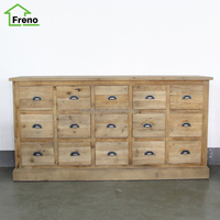 Vintage classical furniture for home 15 drawers antique reclaimed wood cabinet