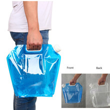 5L/10L Outdoor Foldable Folding Collapsible Drinking Water Bag Car Water Carrier Container for Camping Hiking Picnic BBQ