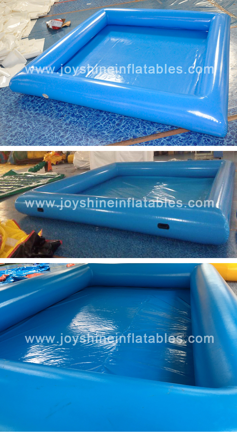 Wholesale Cheap  6m x 4m Black Inflatable Swim Water Pools Portable Outdoor Used Inflatable Swimming Pool For Water Park