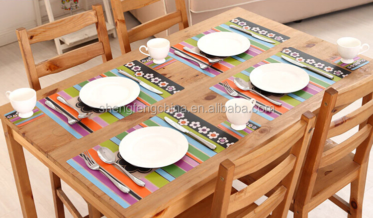fashionable table mat plastic ,pp placemat