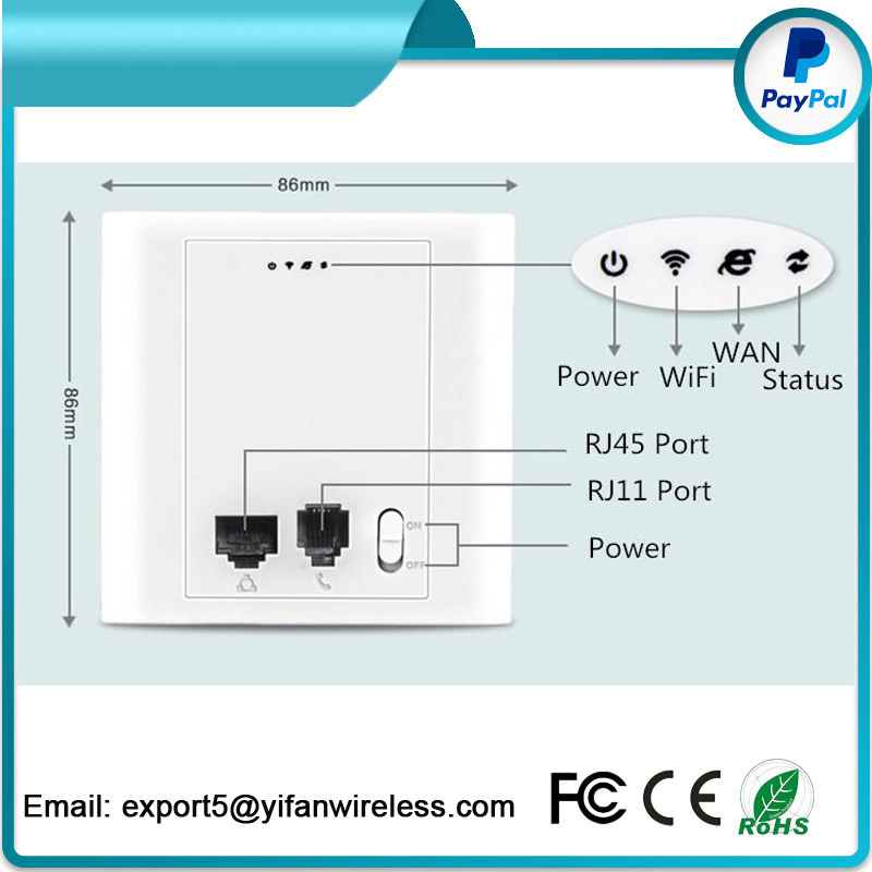 YF300 Hot New Products In wall POE Wifi Mini Wireless Access Point